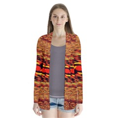 Orange Seamless Psychedelic Pattern Cardigans