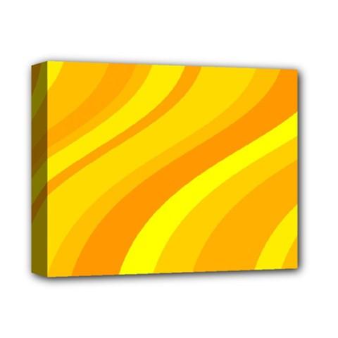 Orange Yellow Background Deluxe Canvas 14  X 11