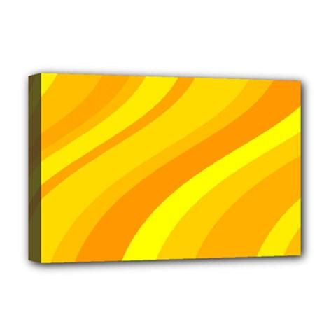 Orange Yellow Background Deluxe Canvas 18  X 12