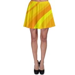 Orange Yellow Background Skater Skirt