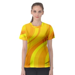 Orange Yellow Background Women s Sport Mesh Tee