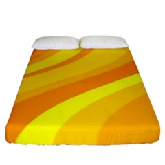 Orange Yellow Background Fitted Sheet (king Size)