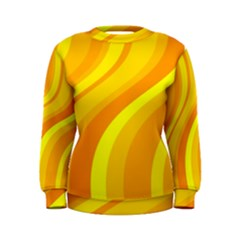 Orange Yellow Background Women s Sweatshirt