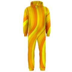 Orange Yellow Background Hooded Jumpsuit (men)