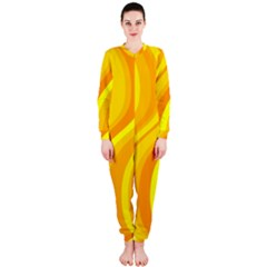 Orange Yellow Background Onepiece Jumpsuit (ladies)
