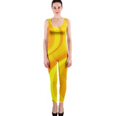 Orange Yellow Background Onepiece Catsuit