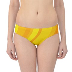 Orange Yellow Background Hipster Bikini Bottoms