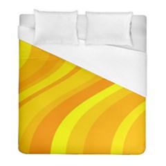Orange Yellow Background Duvet Cover (full/ Double Size)