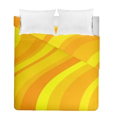 Orange Yellow Background Duvet Cover Double Side (full/ Double Size)