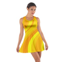 Orange Yellow Background Cotton Racerback Dress