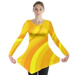 Orange Yellow Background Long Sleeve Tunic