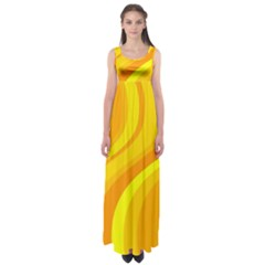 Orange Yellow Background Empire Waist Maxi Dress