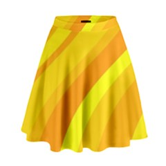 Orange Yellow Background High Waist Skirt
