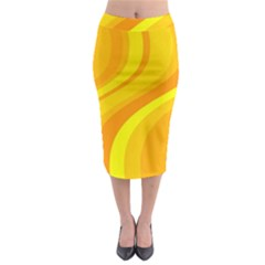Orange Yellow Background Midi Pencil Skirt