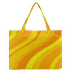 Orange Yellow Background Medium Zipper Tote Bag
