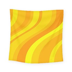 Orange Yellow Background Square Tapestry (small)
