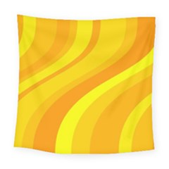 Orange Yellow Background Square Tapestry (large)