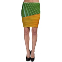 Pattern Colorful Palm Leaves Bodycon Skirt