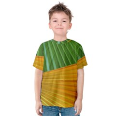 Pattern Colorful Palm Leaves Kids  Cotton Tee