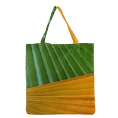 Pattern Colorful Palm Leaves Grocery Tote Bag
