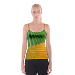 Pattern Colorful Palm Leaves Spaghetti Strap Top