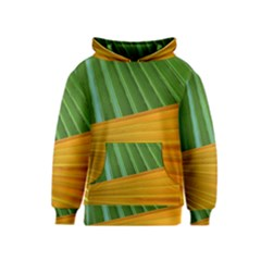 Pattern Colorful Palm Leaves Kids  Pullover Hoodie
