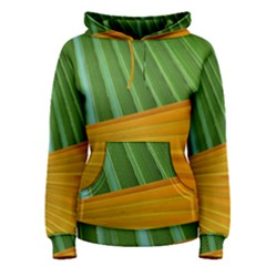 Pattern Colorful Palm Leaves Women s Pullover Hoodie