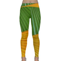 Pattern Colorful Palm Leaves Classic Yoga Leggings