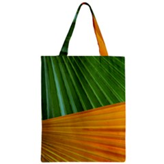 Pattern Colorful Palm Leaves Zipper Classic Tote Bag