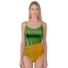 Pattern Colorful Palm Leaves Camisole Leotard