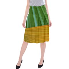 Pattern Colorful Palm Leaves Midi Beach Skirt