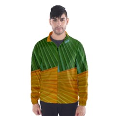 Pattern Colorful Palm Leaves Wind Breaker (men)