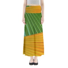 Pattern Colorful Palm Leaves Maxi Skirts