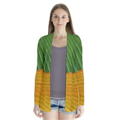 Pattern Colorful Palm Leaves Cardigans