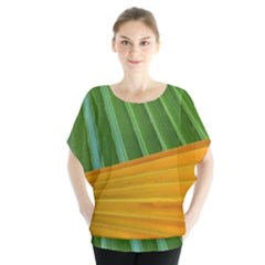 Pattern Colorful Palm Leaves Blouse