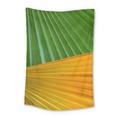 Pattern Colorful Palm Leaves Small Tapestry