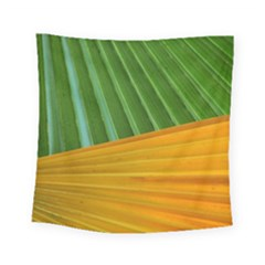 Pattern Colorful Palm Leaves Square Tapestry (small)