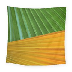 Pattern Colorful Palm Leaves Square Tapestry (large)