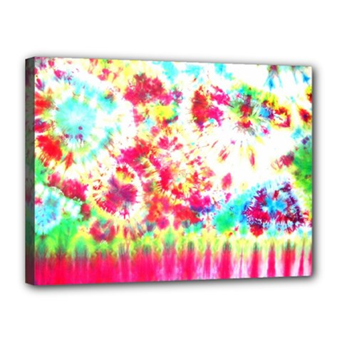 Pattern Decorated Schoolbus Tie Dye Canvas 16  X 12