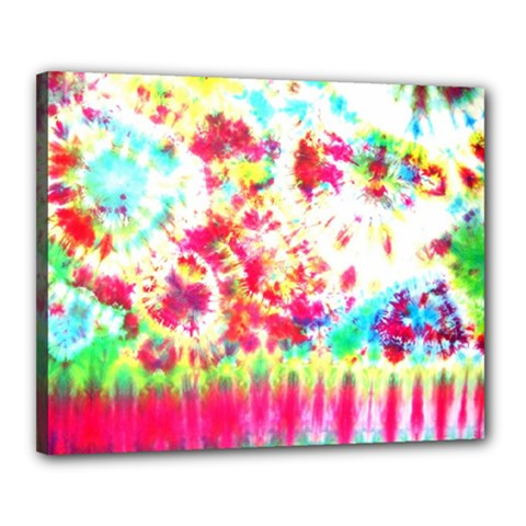 Pattern Decorated Schoolbus Tie Dye Canvas 20  X 16