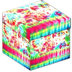 Pattern Decorated Schoolbus Tie Dye Storage Stool 12