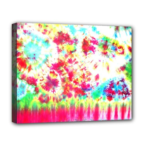 Pattern Decorated Schoolbus Tie Dye Deluxe Canvas 20  X 16