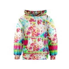 Pattern Decorated Schoolbus Tie Dye Kids  Pullover Hoodie