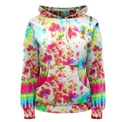 Pattern Decorated Schoolbus Tie Dye Women s Pullover Hoodie