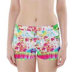 Pattern Decorated Schoolbus Tie Dye Boyleg Bikini Wrap Bottoms