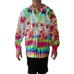 Pattern Decorated Schoolbus Tie Dye Hooded Wind Breaker (kids)