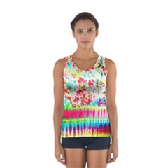 Pattern Decorated Schoolbus Tie Dye Women s Sport Tank Top