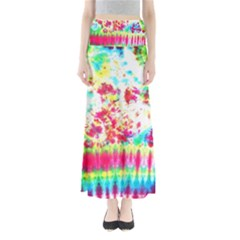 Pattern Decorated Schoolbus Tie Dye Maxi Skirts