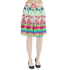Pattern Decorated Schoolbus Tie Dye Pleated Skirt