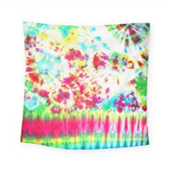 Pattern Decorated Schoolbus Tie Dye Square Tapestry (small)
